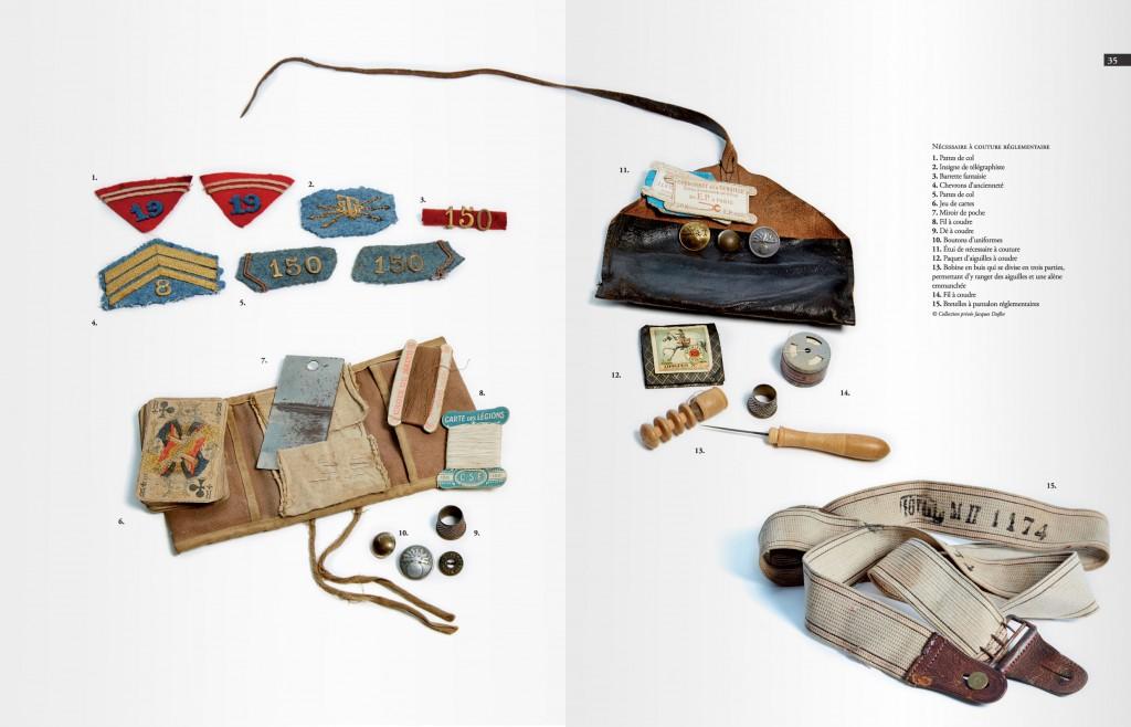 Pages de présentation d'objets militaires français