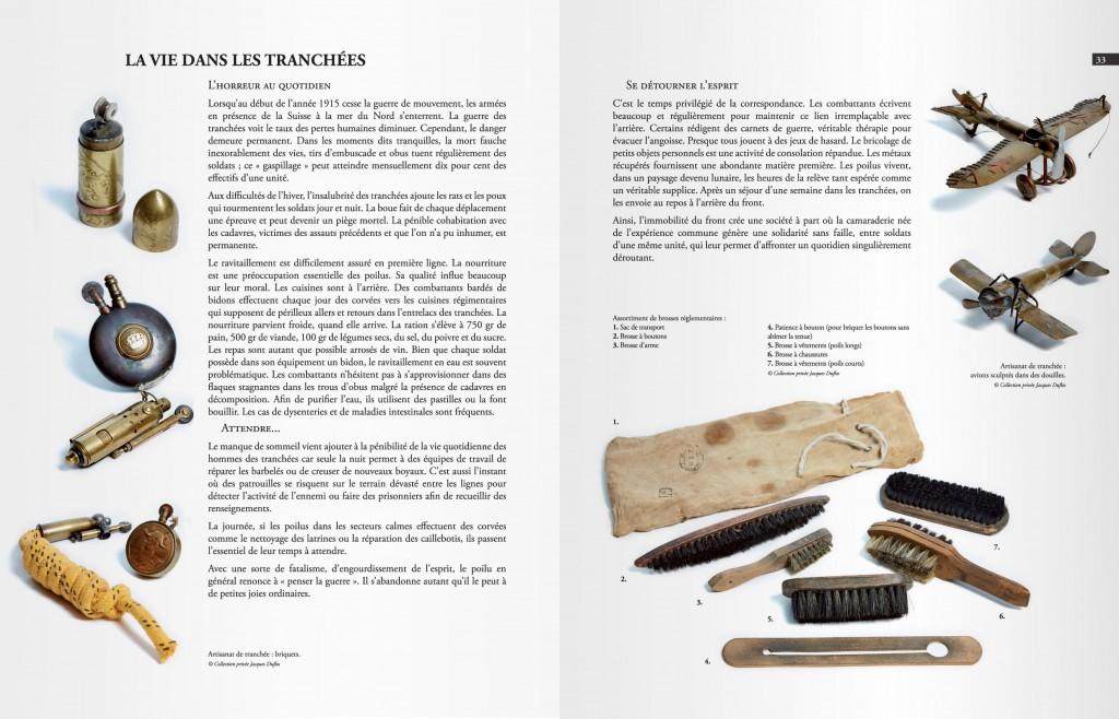 Pages de présentation d'artisanat dans les tranchés réalisés par des militaires français