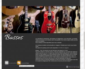 Page de présentation des basses