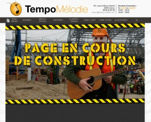 Présentation d'une page en construction