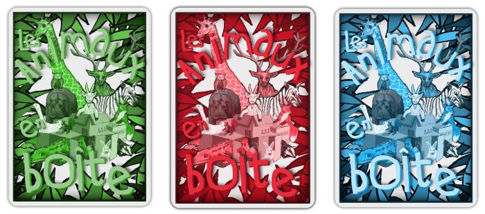 """Verso des cartes à jouer de la malle pédagogique """" Les animaux en boîte """"."""