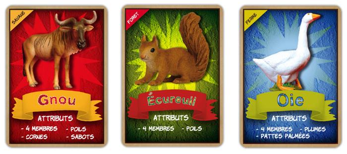 """Recto des cartes à jouer de la malle pédagogique """" Les animaux en boîte """"."""