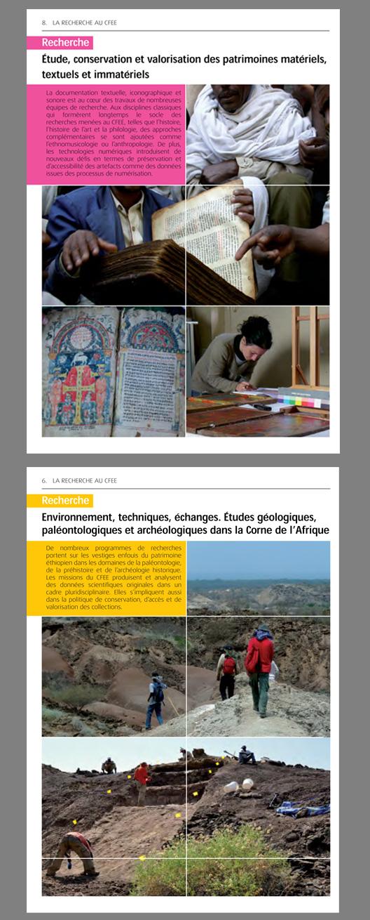 images des pages intérieur du Centre Français des Études Éthiopiennes
