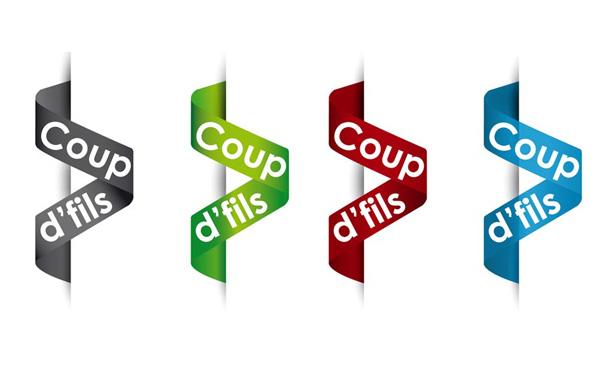 déclinaison du logo de l'association Coup d'fils