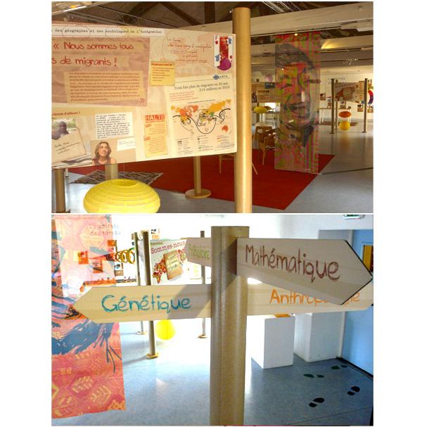 Vue des Panneaux de l'exposition Famille