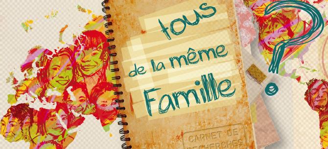 Panneaux de l'exposition Famille