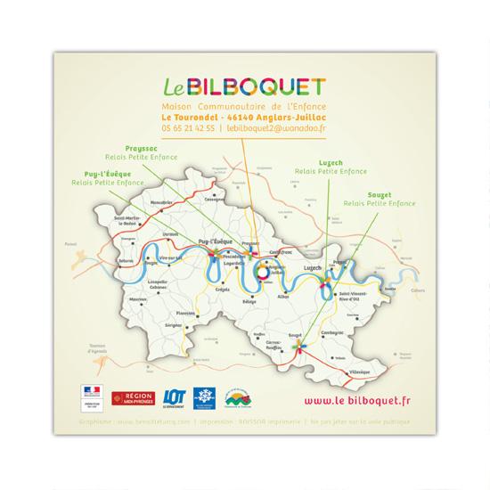 Dos de la plaquette de présentation de l'association Le  Bilboquet