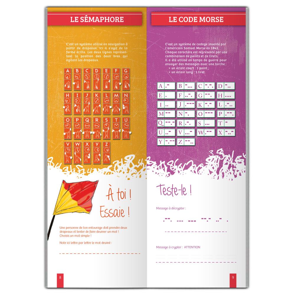 Sémaphore et code Morse, ateliers de la brochure Codes secrets