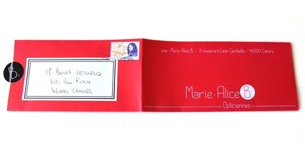 Carte de vœux pour l'année 2015 des Opticiennes Marie Alice B à Cahors