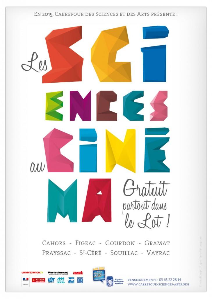 """En 2015, Carrefour des Sciences et des Arts, présente : """"Les Sciences au Cinéma"""", gratuit, partout dans le Lot"""