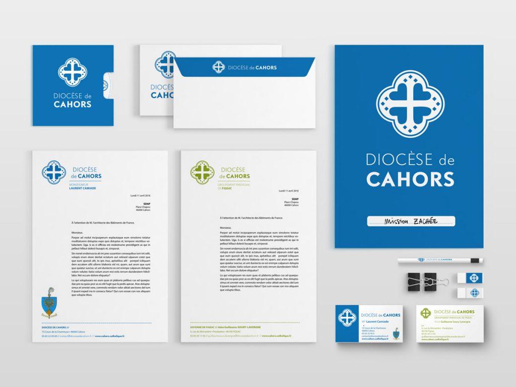 Papeterie conçue pour le Diocèse de Cahors