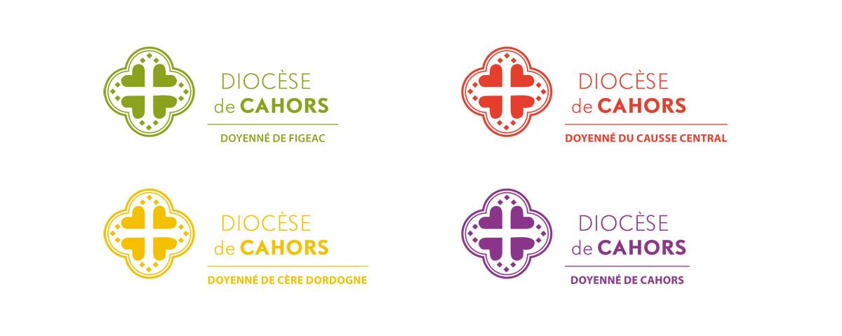 Déclinaison du logo pour chacun des quatre doyennés constitutifs