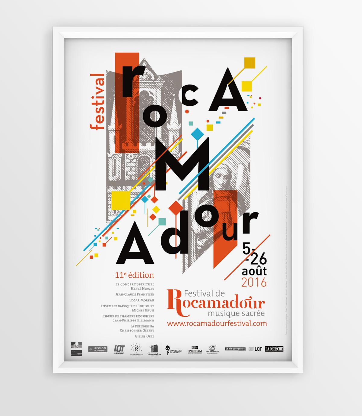 Affiche 2016 du Festival de Rocamadour