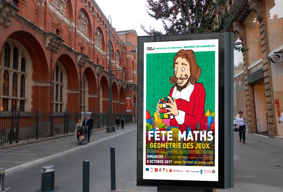 Affiche la Fête des Maths 2017 à Toulouse