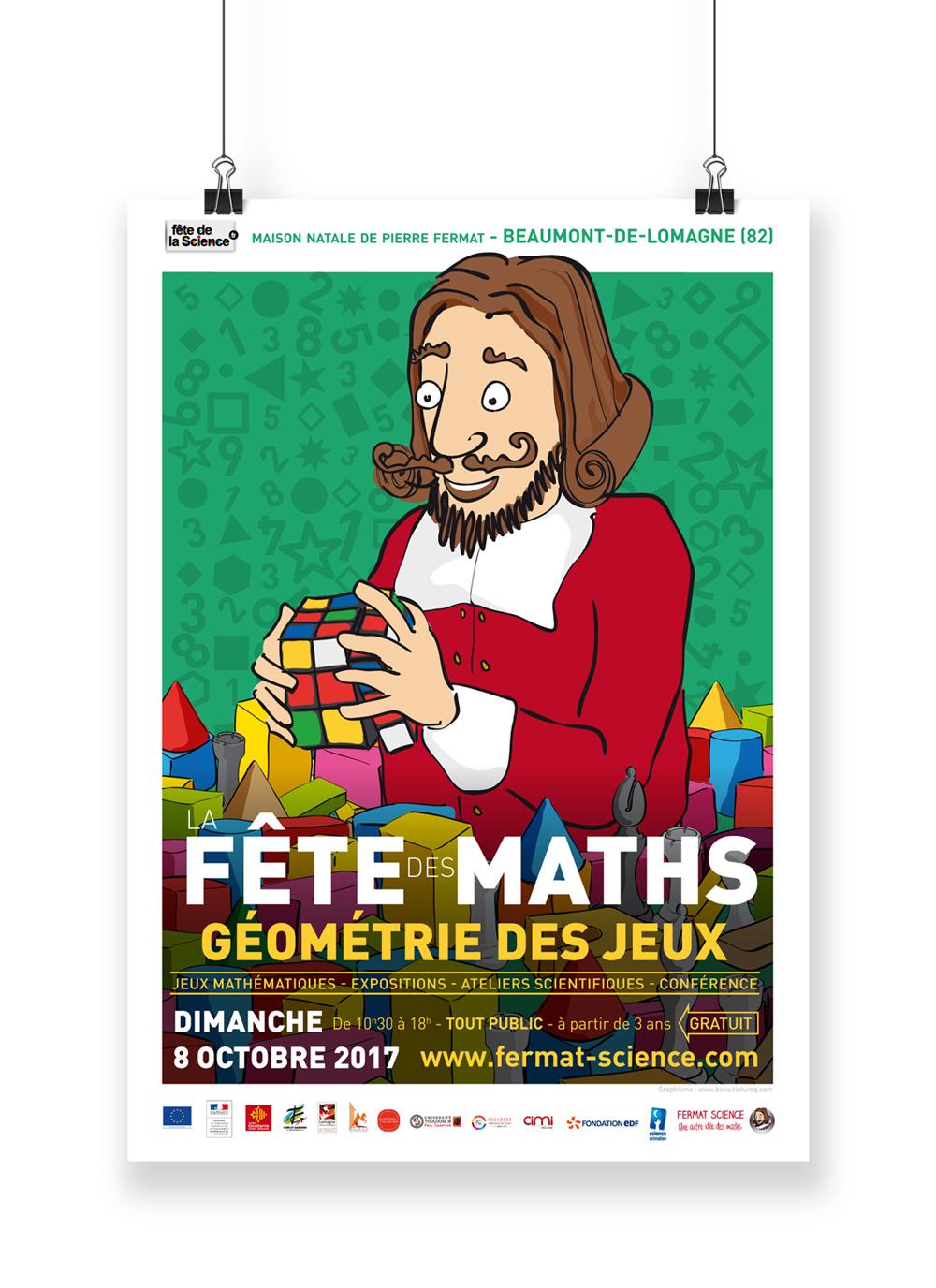 Présentation de l'affiche la Fête des Maths 2017