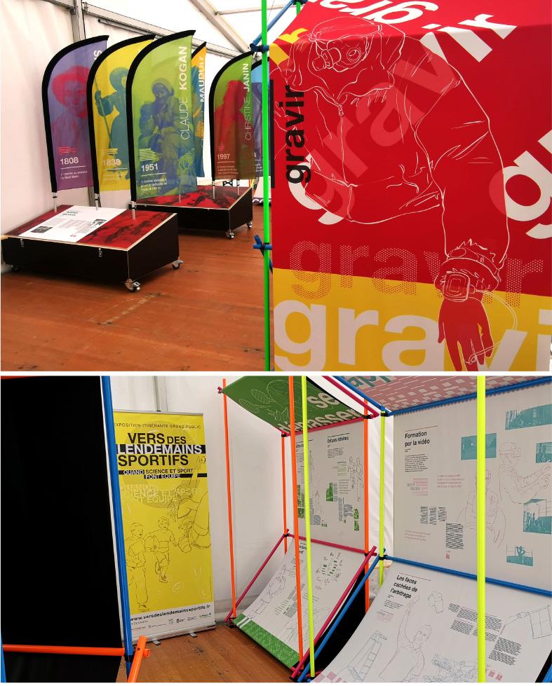 vue de l'exposition scenographiée par Benoit Leturcq et Jean-Michel Valla