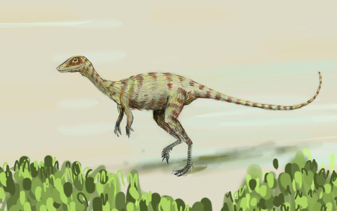 Jurassique dinosaure tripode