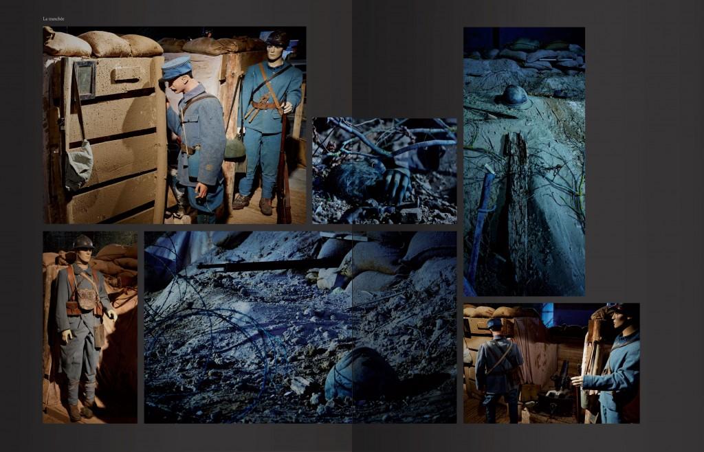 Page de présentation de la reconstitution d'une tranchée à Cahors
