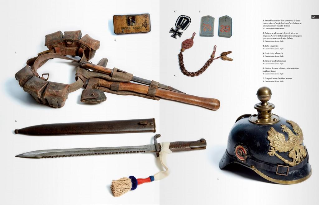 Pages de présentation d'objets militaires allemands