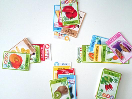 Croc' Saisons - Jeu de cartes - photo d'un partie en cours de jeu