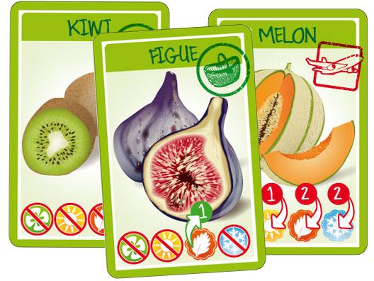 """Croc'Saisons - Cartes """"fruits et légumes"""""""