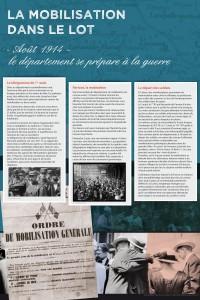 """Panneau """"La mobilisation dans le Lot"""""""