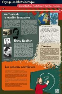 Panneau Emmy Noether, voyage au temps de la montée du nazisme