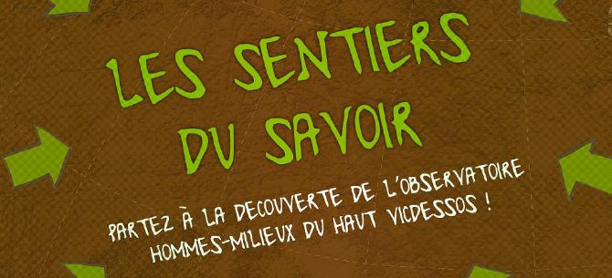 """<span class=""""smallerTitle"""">Observatoire Hommes-Milieux :</span> les sentiers du savoir"""
