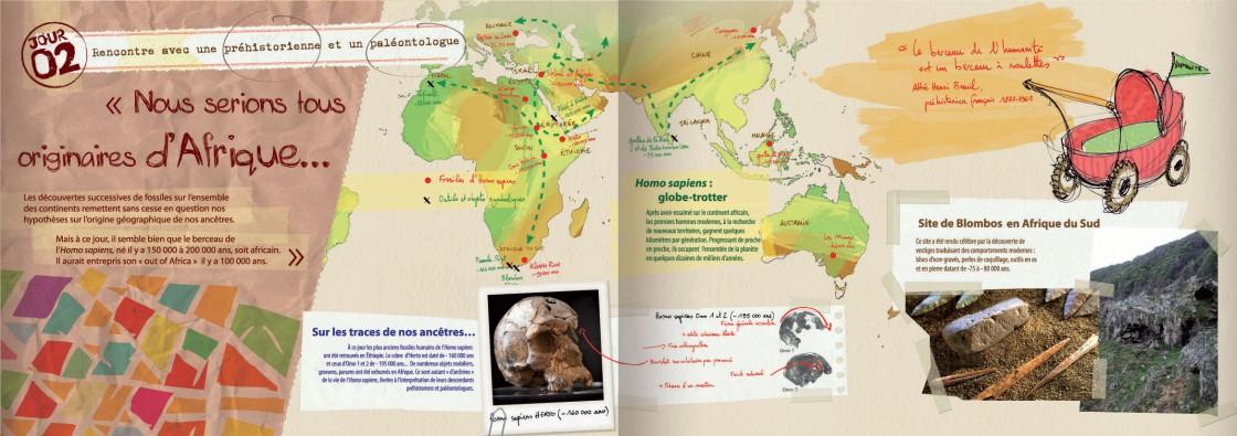 Rencontre N°2  avec une préhistorienne et un paléontologue.
