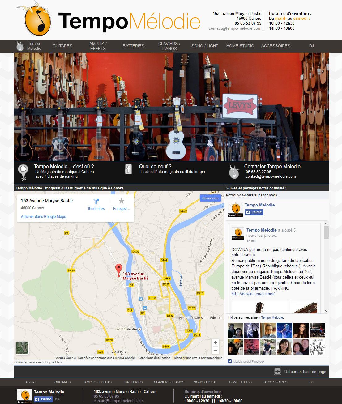 Tempo Mélodie page d'accueil du site