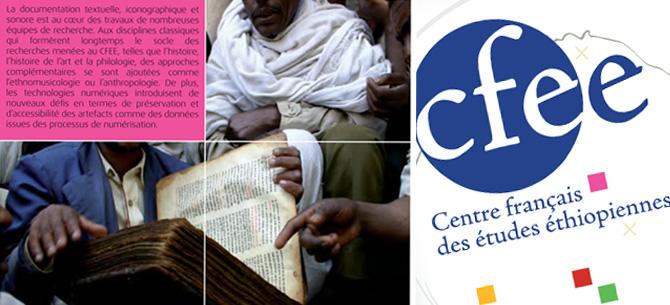 """Centre Français <span class=""""smallerTitle"""">des Études Éthiopiennes</span>"""