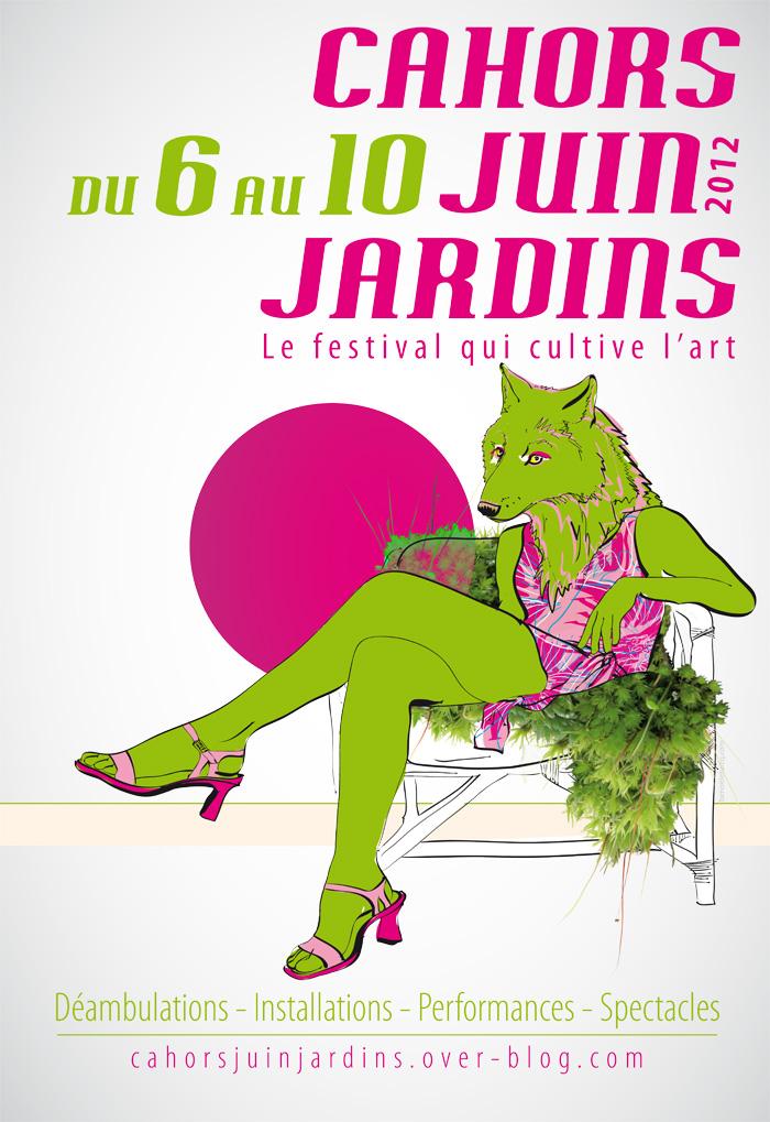 Cahors Juin Jardin - affiche de l'édition 2012