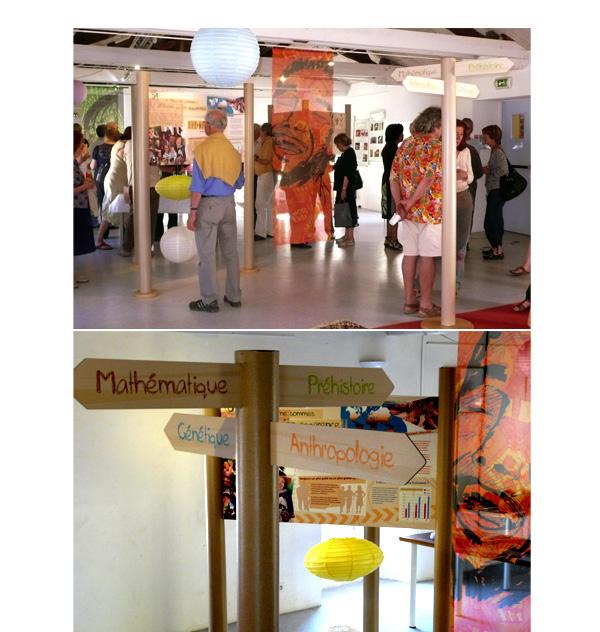 Vue dPanneaux de l'exposition Famille