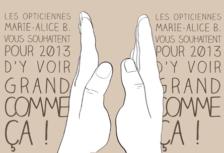 """<span class=""""smallerTitle"""">Marie-Alice B.</span> Voeux 2013"""