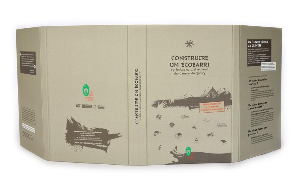 """Recto de la couverture du livre objet """"construire un Écobarri"""""""