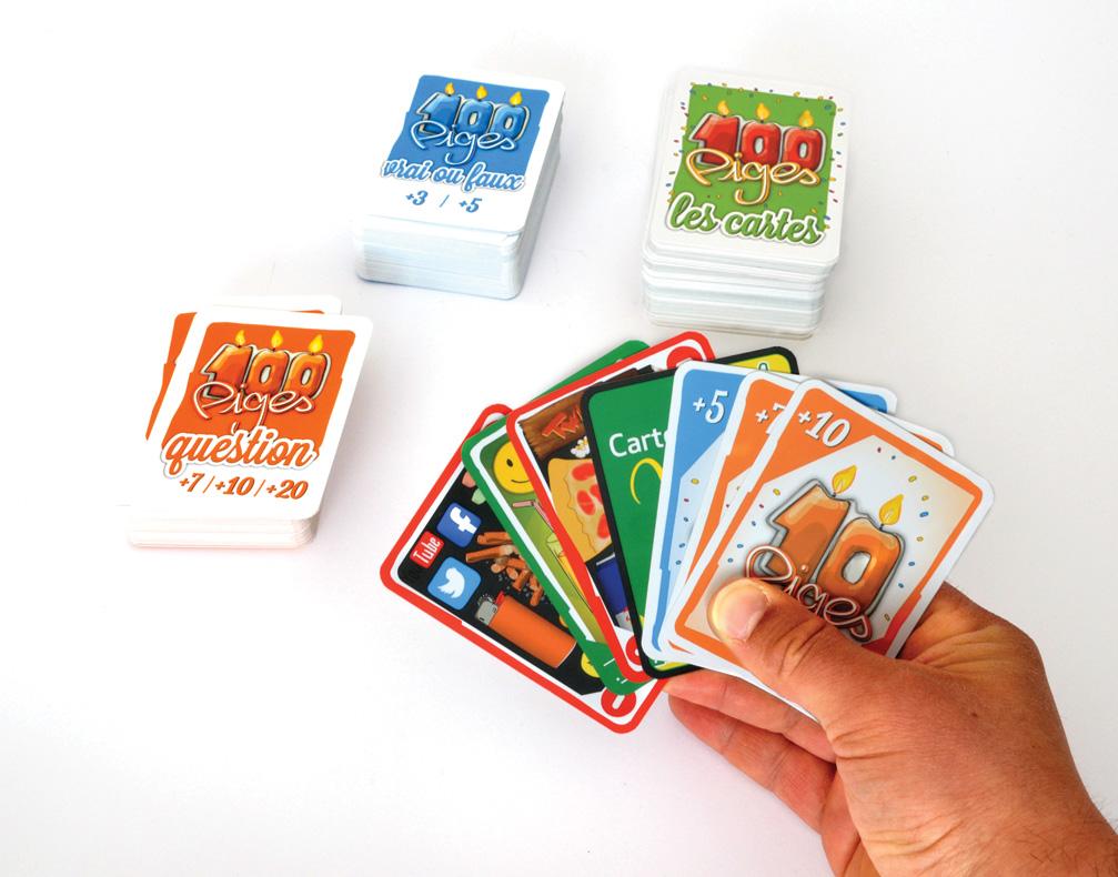 """Jeu de cartes """"les 100 piges"""", 7 cartes en main"""