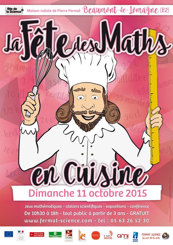 Affiche de la Fête des Maths à Beaumont-de-Lomagne