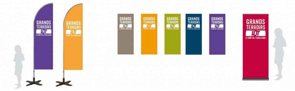 Les roll-up couleur du Comité de promotion des produits du Lot