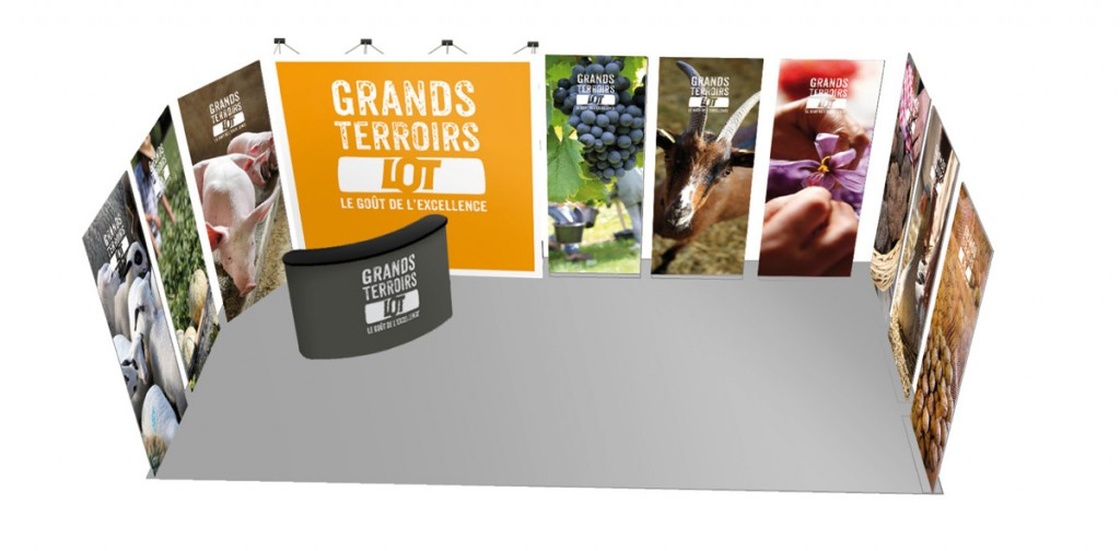 Comité de promotion des produits du Lot, aménagement d'un stand de 9m²