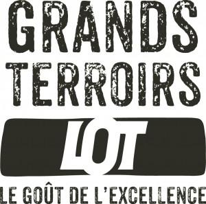 Grands Terroirs, le goût de l'excellence. Logo du Comité de Promotion des Produits du Lot