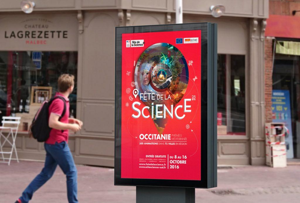 Mise en Scène de l'affiche de la Fête de la Science 2016