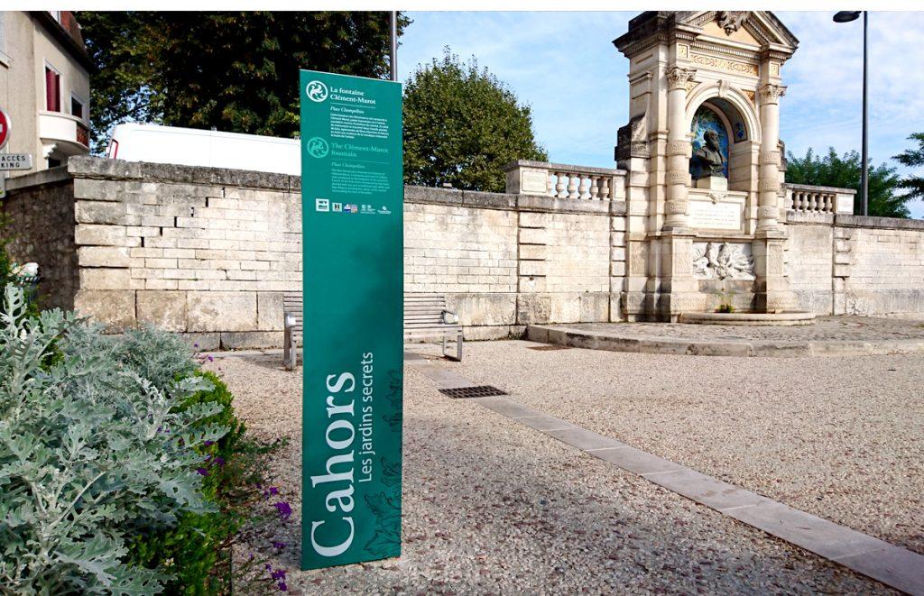 Les jardins secrets - Place Champolion - La fontaine Clément Marot