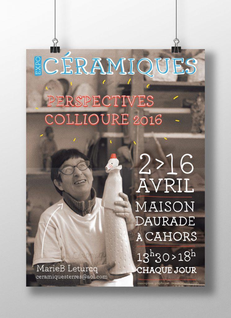 Affiche expo de Céramiques Marie B. Leturcq