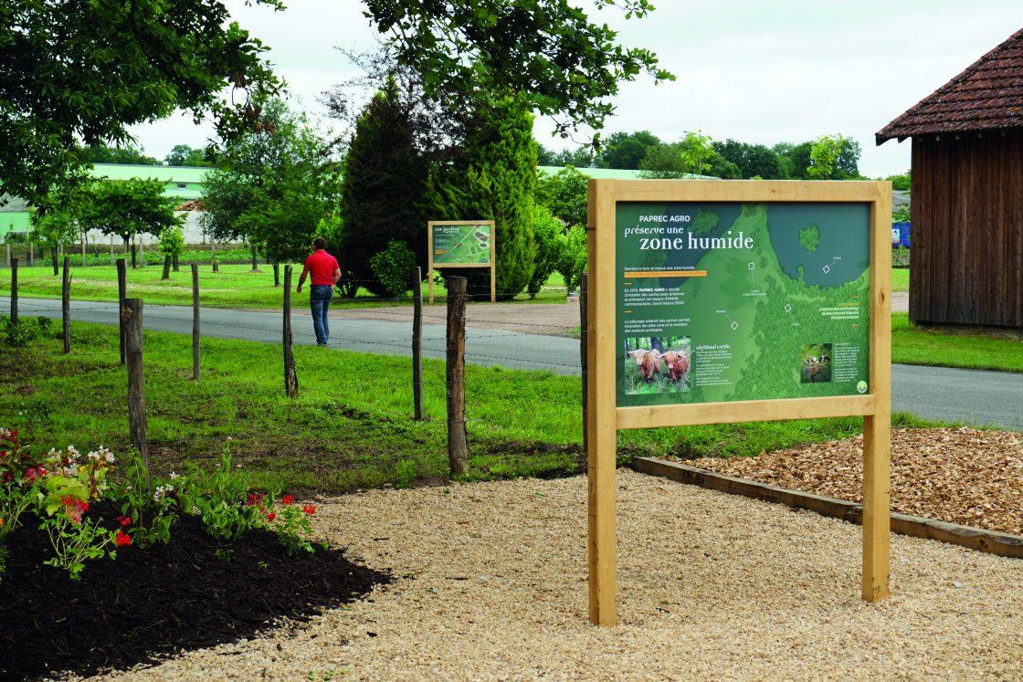 Panneaux - parcours didactique Paprec Agro - Les jardins du Petit Clos