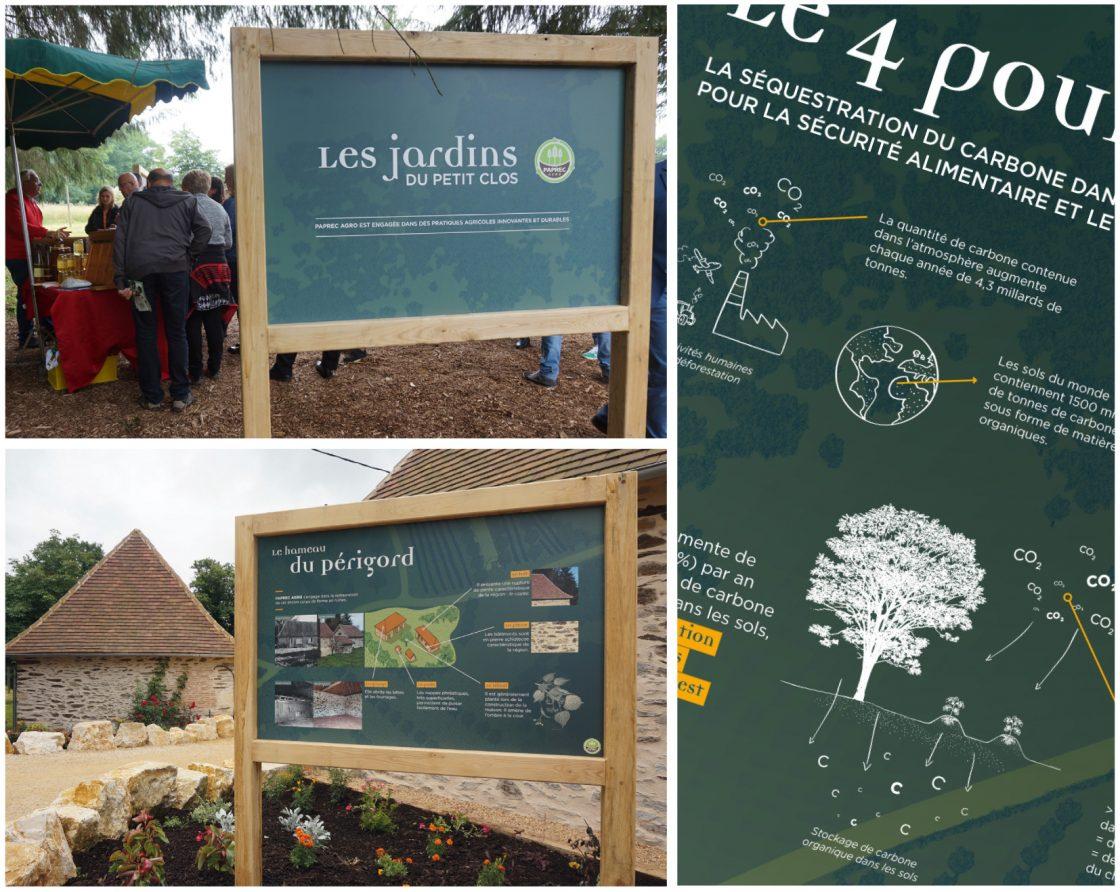 Parcours pédagogique Paprec Agro - panneaux pédagogiques