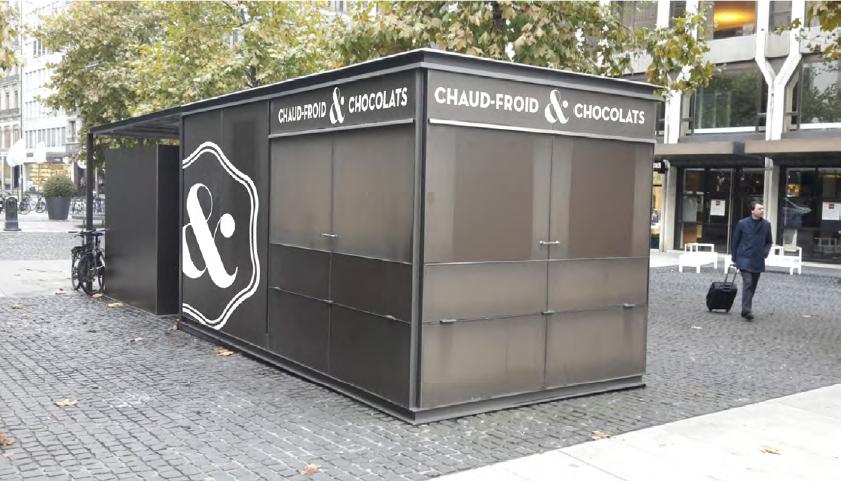 Pavillon Chaud Froid et Chocolats - Place Longemalle Genève, suisse