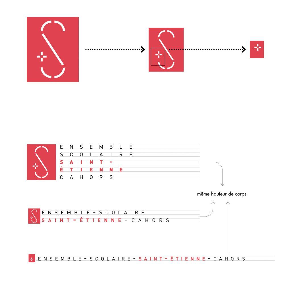 Déclinaison du logo, Ensemble scolaire Saint-Étienne à Cahors