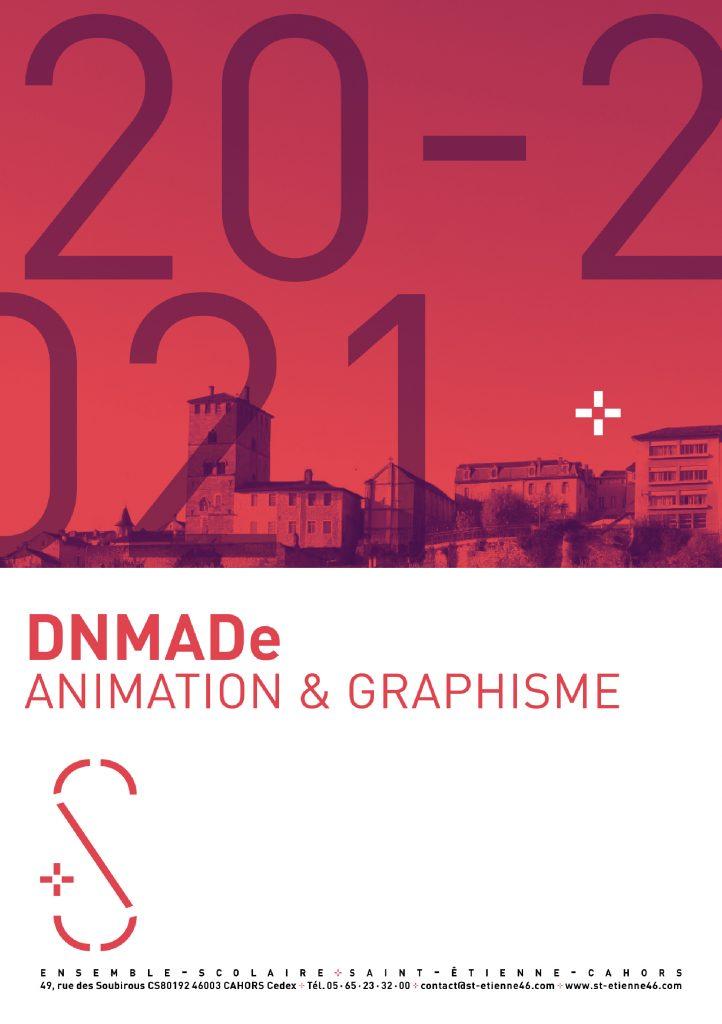 Couverture du livret de l'étudint DNMADe Graphisme et Animation à l'ensemble scolaire saint Étienne à Cahors