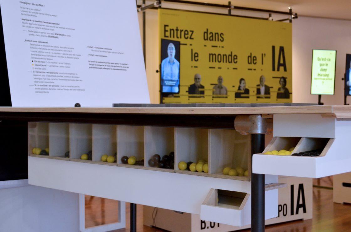 Manipe Apprentissage par renforcement - jeu de Nim dans l'exposition Entrez dans le monde de l'IA