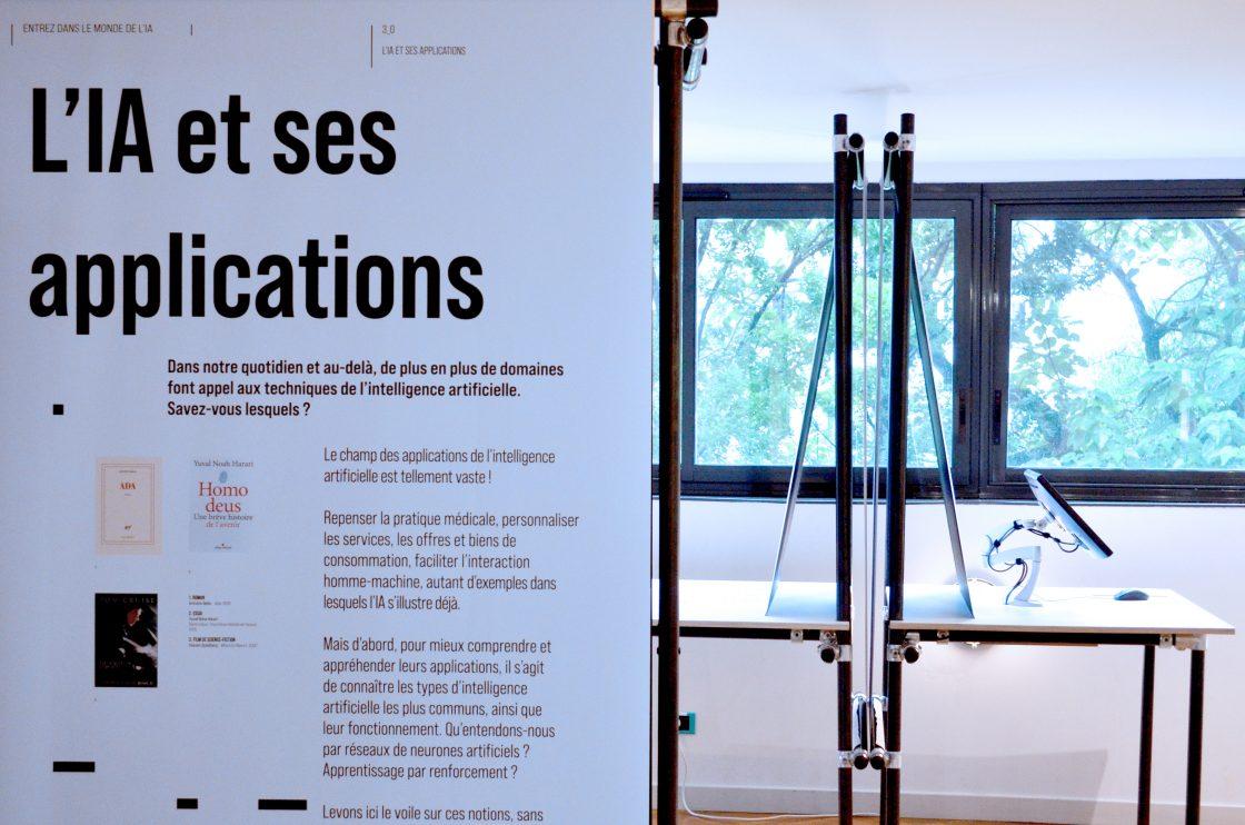 Pôle manipes - architecture des modules de l'exposition Entrez dans le monde de l'IA